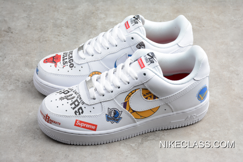 Ofertas 1 X Supreme Nike Air Nba Low Force White Mejores qzpSGUMV