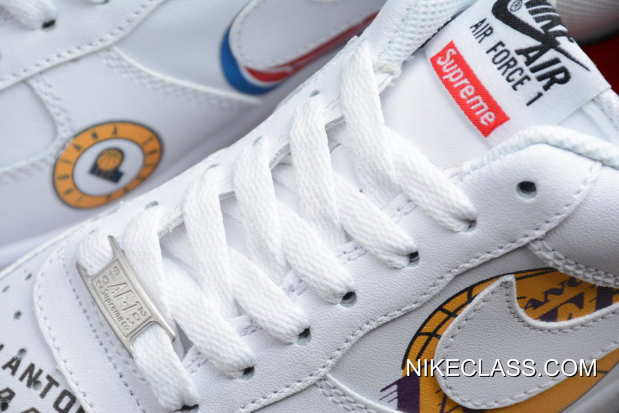 Mejores Ofertas Supreme X NBA X Nike Air Force 1 Low White